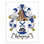 Scheeres Family Crest Small Poster