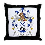 Scheeres Family Crest Throw Pillow
