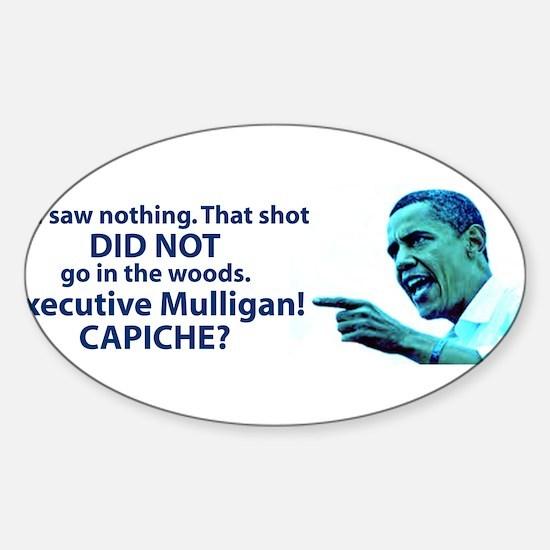 Mulligan Sticker (Oval)