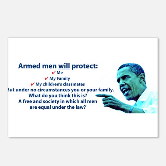 Armed men Postcards (Package of 8)