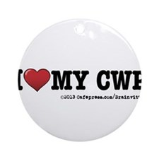 I love my CWP Ornament (Round)