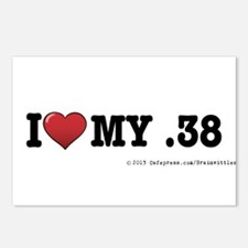 I love my .38 Postcards (Package of 8)