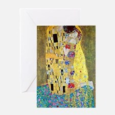 The Kiss by Gustav Klimt, Vintage A Greeting Cards