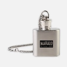 MAHALO, Big Island, Hawaii Flask Necklace