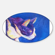 Sunset Tuxedo Cat Art Decal