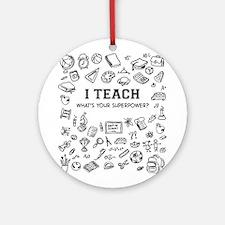 Superhero Teacher Ornament (Round)