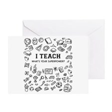 Superhero Teacher Greeting Card