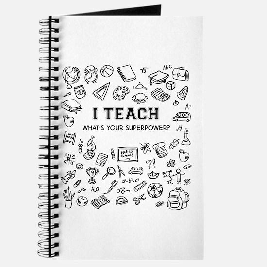 Superhero Teacher Journal