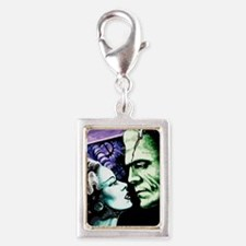Bride And Frankenstein Silver Portrait Charm