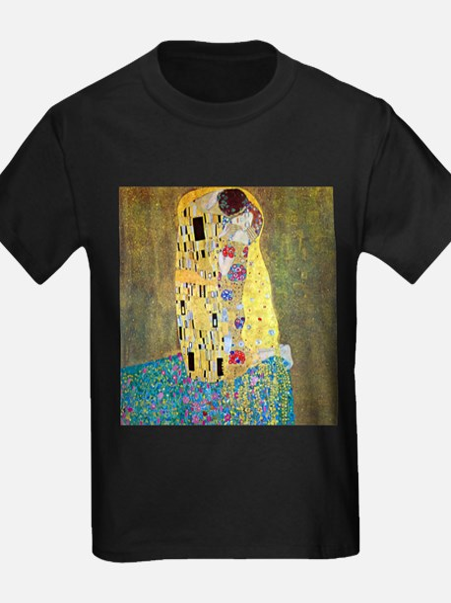 The Kiss by Gustav Klimt, Vintage Art Nouv T-Shirt