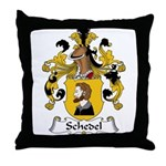 Schedel Family Crest Throw Pillow