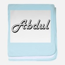 Abdul Classic Style Name baby blanket