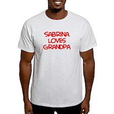 Sabrina Loves Grandpa T-Shirt