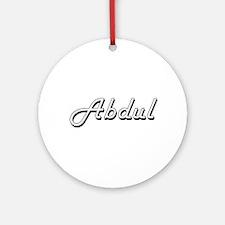 Abdul Classic Style Name Ornament (Round)