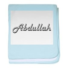 Abdullah Classic Style Name baby blanket