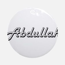 Abdullah Classic Style Name Ornament (Round)