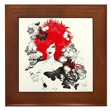 Red hair Framed Tile