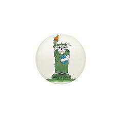 Bulldog Statue of Liberty? Mini Button (10 pack)
