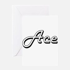 Ace Classic Style Name Greeting Cards