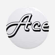 Ace Classic Style Name Ornament (Round)