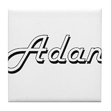 Adan Classic Style Name Tile Coaster