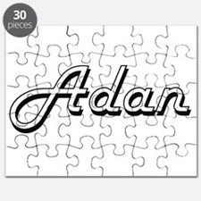 Adan Classic Style Name Puzzle