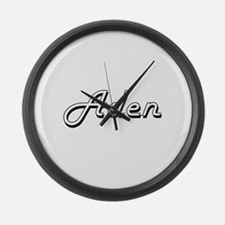 Aden Classic Style Name Large Wall Clock