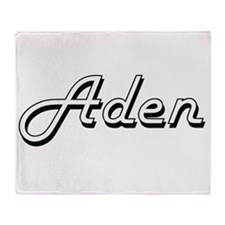 Aden Classic Style Name Throw Blanket