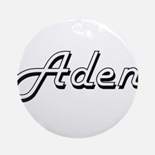 Aden Classic Style Name Ornament (Round)