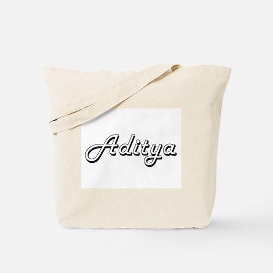 Aditya Classic Style Name Tote Bag