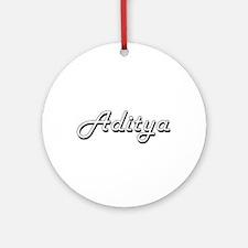 Aditya Classic Style Name Ornament (Round)