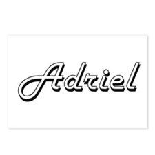 Adriel Classic Style Name Postcards (Package of 8)