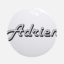 Adrien Classic Style Name Ornament (Round)