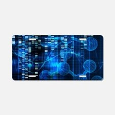 Genetic Science Research Aluminum License Plate