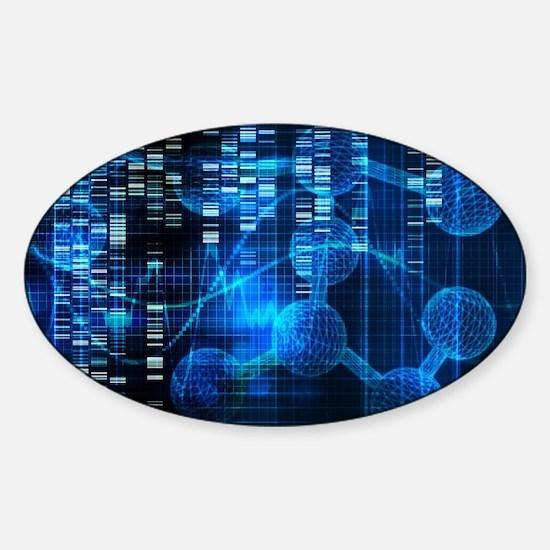Genetic Science Research Sticker (Oval)