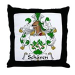 Schaven Family Crest Throw Pillow