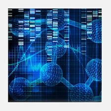 Genetic Science Art Tile Coaster