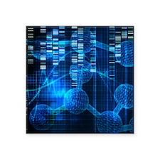 "Genetic Science Art Square Sticker 3"" x 3"""