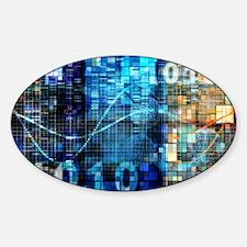 Digital Image Background Sticker (Oval)