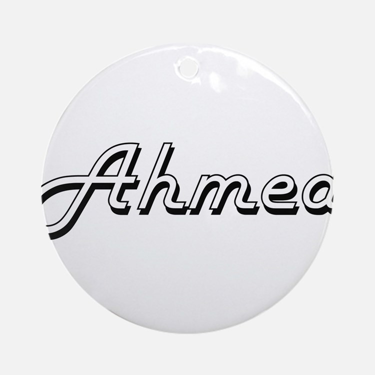 Ahmed Classic Style Name Ornament (Round)