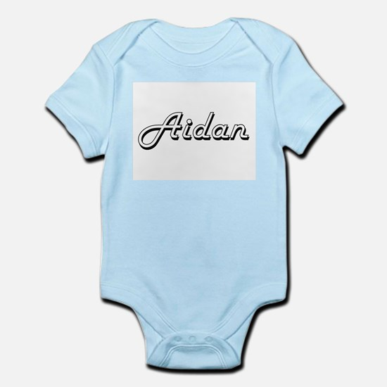 Aidan Classic Style Name Body Suit