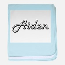 Aiden Classic Style Name baby blanket