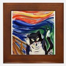 Kitty Scream Framed Tile