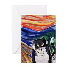 The Kitty Scream Art Painting Card Greeting Cards