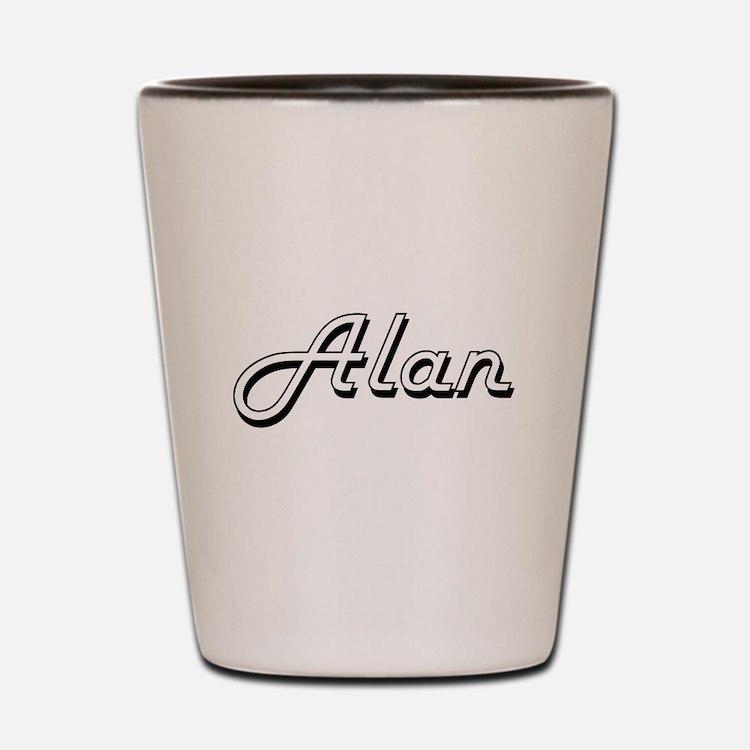 Alan Classic Style Name Shot Glass