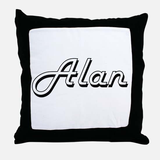 Alan Classic Style Name Throw Pillow