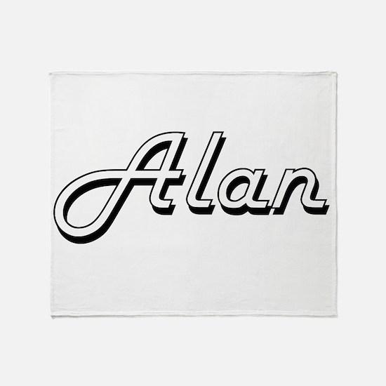 Alan Classic Style Name Throw Blanket