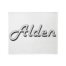 Alden Classic Style Name Throw Blanket