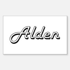 Alden Classic Style Name Decal