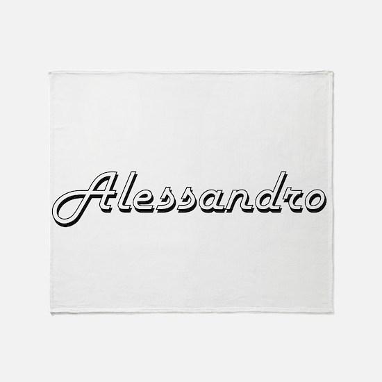 Alessandro Classic Style Name Throw Blanket